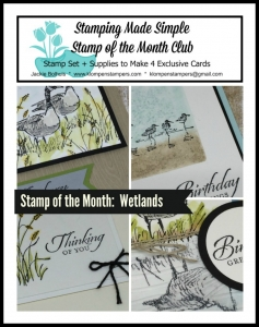 Wetlands online stamping class. Includes PDF Tutorial and video.