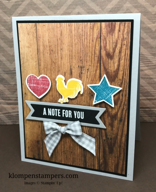 Quick & easy card using Wood Words stamp set by Stampin' Up! All details posted on blog.