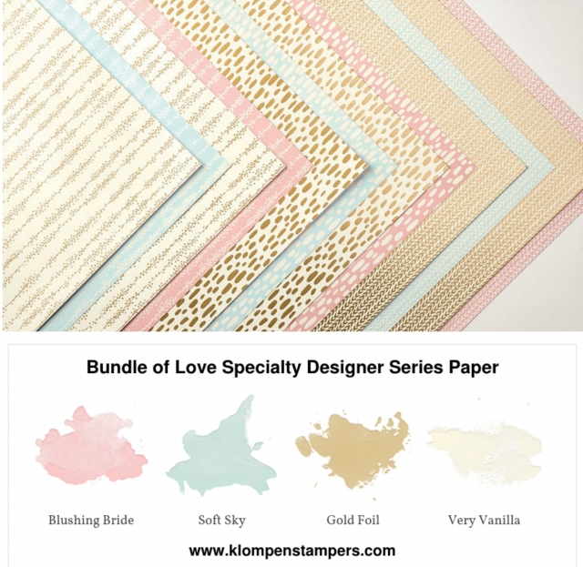 Bundle of Love Designer Series Paper from Stampin' Up!