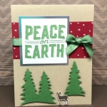 Easy card using Stampin' Up! Carols of Christmas stamp set and Card Front Builder Thinlits. Start your cards early this year!