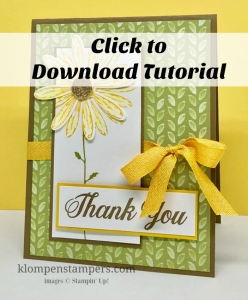 Free step-by-step tutorial for Stampin' Up! Daisy Delight card.