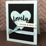Lovely Inside & Out bundle is perfect for quick & easy cards. All details posted on Klompenstampers.com