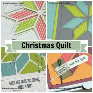 Online stamping class using Christmas Quilt stamp set from Stampin' Up!