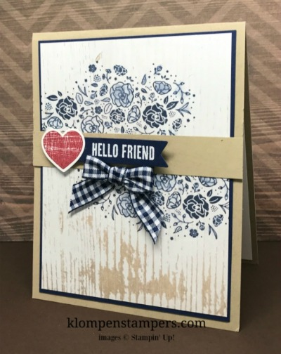 Hello Friend Card Using Wood Words Stamp Set