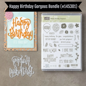 Happy Birthday Gorgeous bundle. Save 10% when you purchase bundles. Fun project posted!