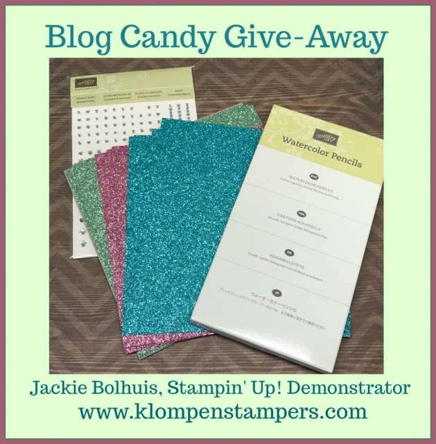 Blog Candy Give-Away at klompenstampers.com