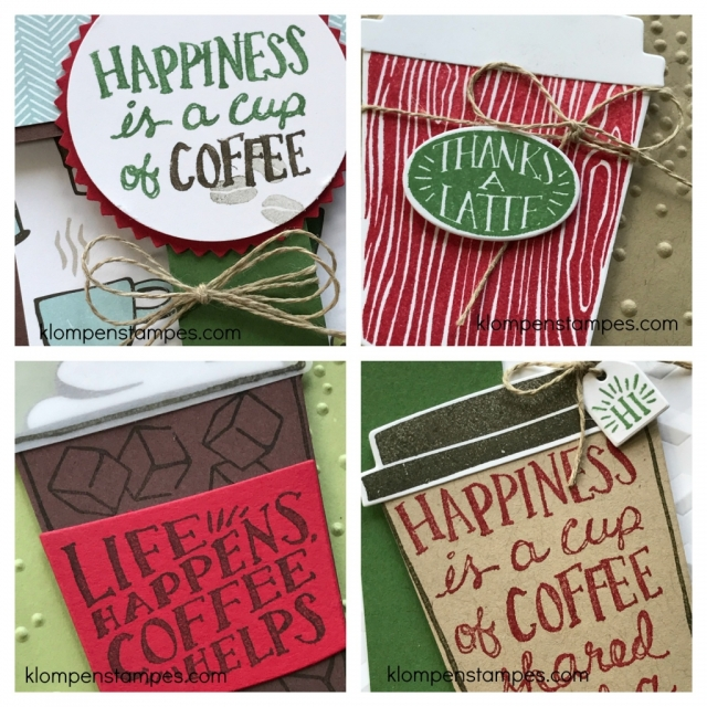 Online class and card kit using Stampin' Up! Coffee Cafe Bundle. Free with purchase, or purchase just the class.