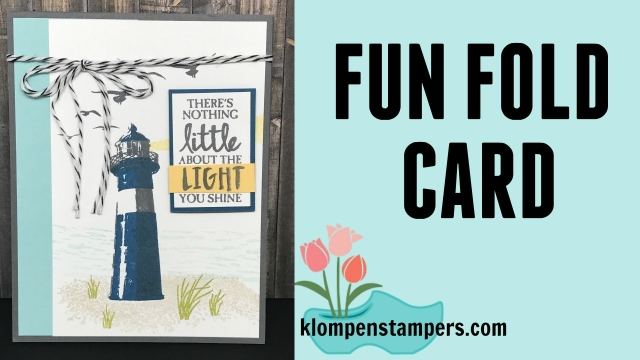 Easy fun fold card using High Tide stamp set from Stampin' Up!. Instructions & video posted.