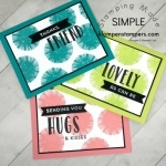 Simple cards made using Lovely Inside & Out Stamp Set from Stampin' Up! All details posted at klompenstampers.com