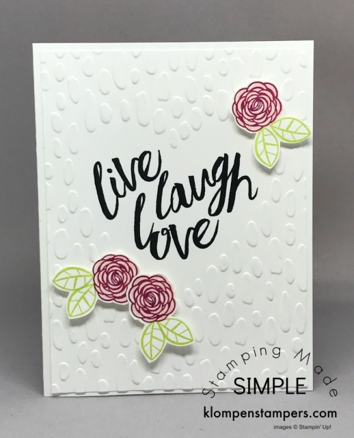 Quick & easy wedding card using Happy Birthday Gorgeous stamp set by Stampin' Up!