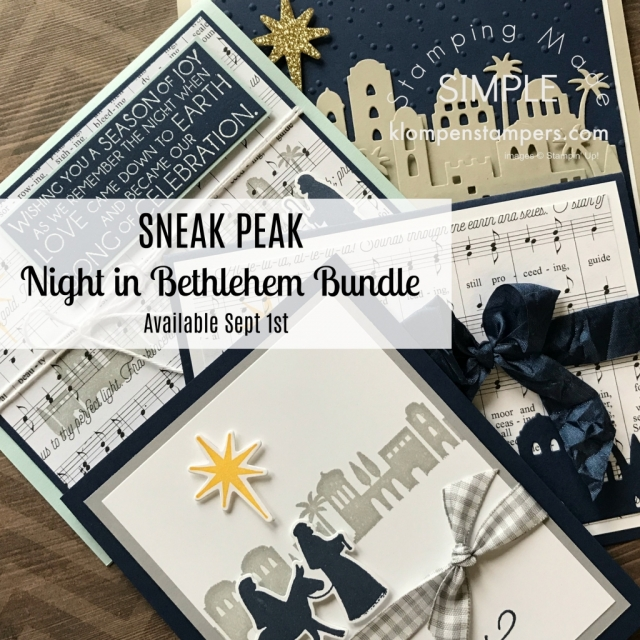 Stampin' Up! Night of Bethlehem stamp set and Bethlehem Edgelits Dies in the 2017 Stampin' Up! Holiday Catalog.