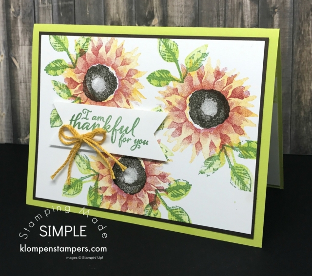 Painted Harvest from the 2017 Stampin' Up! Holiday Catalog. Video with tips for stamping and tips for using the Triple Banner Punch