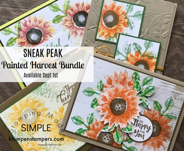 Stampin' Up! Painted Harvest stamp set and Leaf Punch in the 2017 Stampin' Up! Holiday Catalog.
