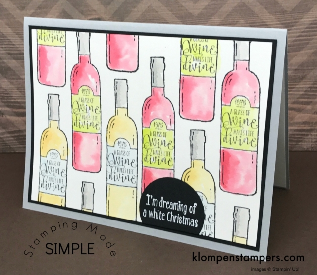 Learn how to easily watercolor using the Stampin' Up! Half Full set. Video and instructions at klompenstampers.com