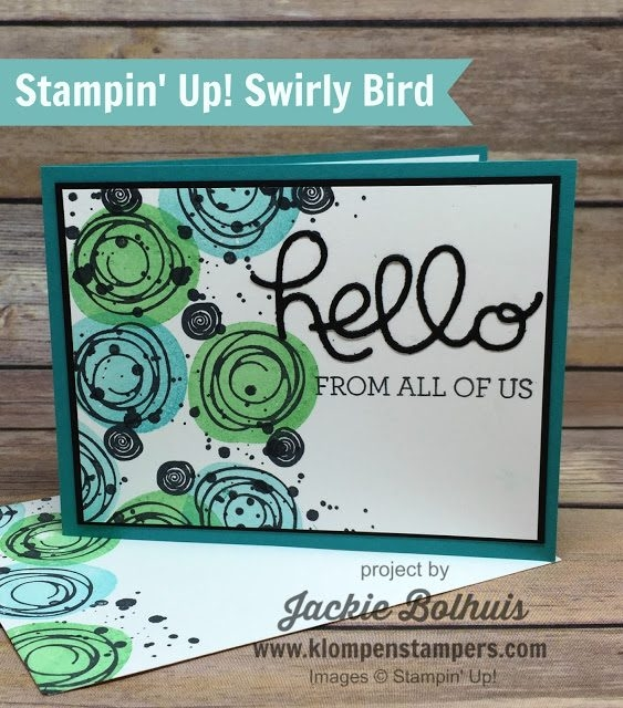 Die-Cut-Hello-Sentiment-on-a-Handmade-Greeting-Card-in-Blue-and-Green