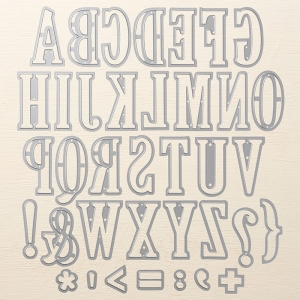 Stampin' Up! Large Letters Framelits