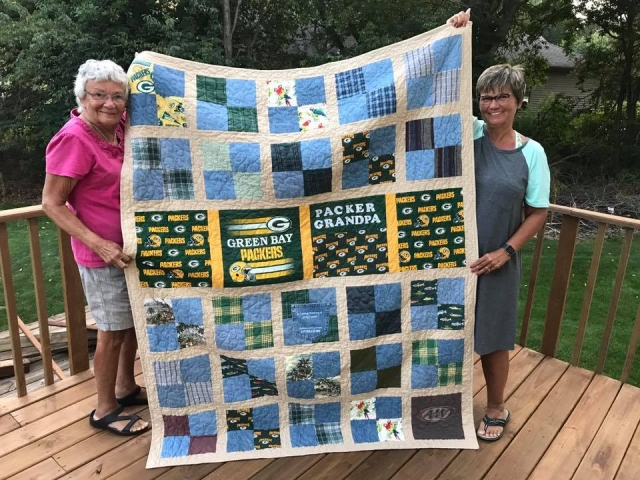 Memory Quilt made with my fathers clothing.