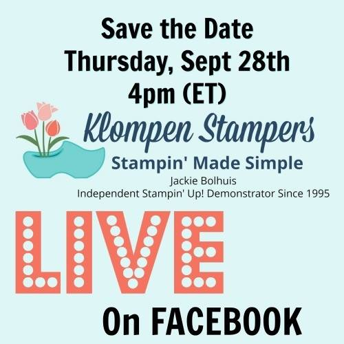Join me for some fun stamping ideas on Facebook Live on Sept 28th at 4pm (ET) I will be featuring the Christmas Quilt Bundle