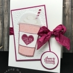 I Love YOU & Coffee Card with Merry Cafe Stamp Set