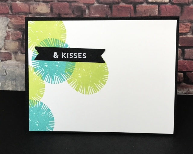 Fun technique using Stampin' Up! Lovely Inside & Out and Large Letters Framelits
