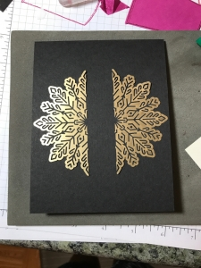 Foil Snowflakes not just for Christmas Cards. They make a nice touch on any card!