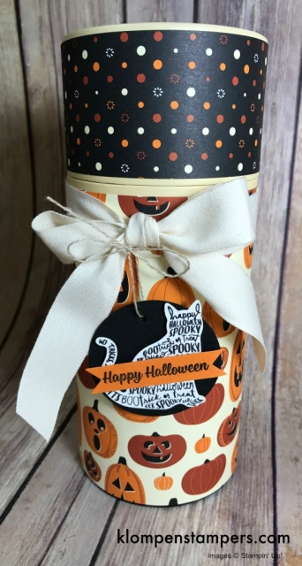 "Cover this ""tube"" boxes using Spooky Night DSP and for great little Halloween Gift Holder."