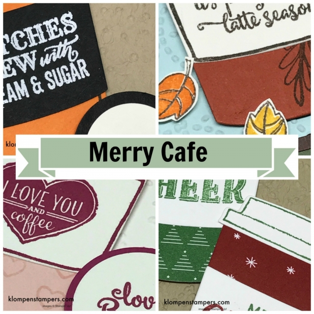 Online stamping class featuring Merry Cafe and Coffee Cafe Bundle from Stampin' Up! Free with order, or purchase class and kit.