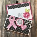 Fun Fold Card Using Ribbon of Courage