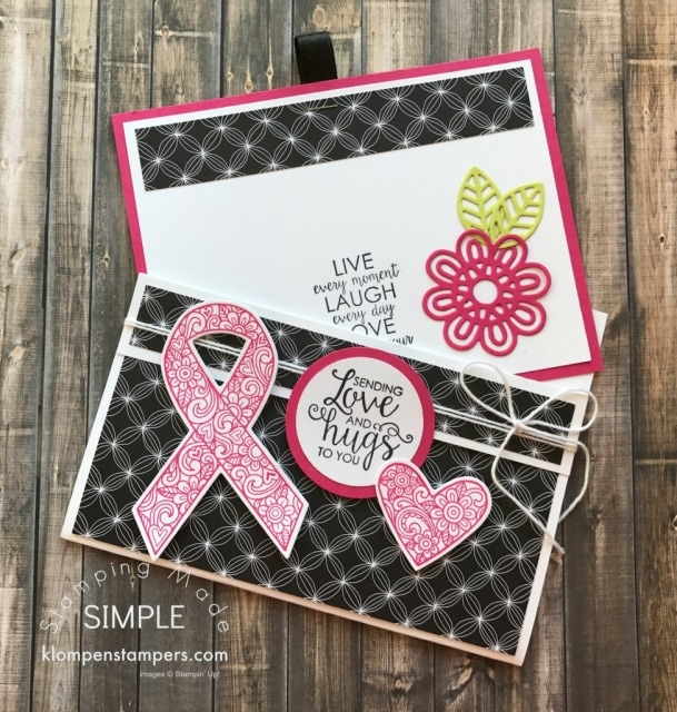 Fun Fold Card Using Ribbon of Courage