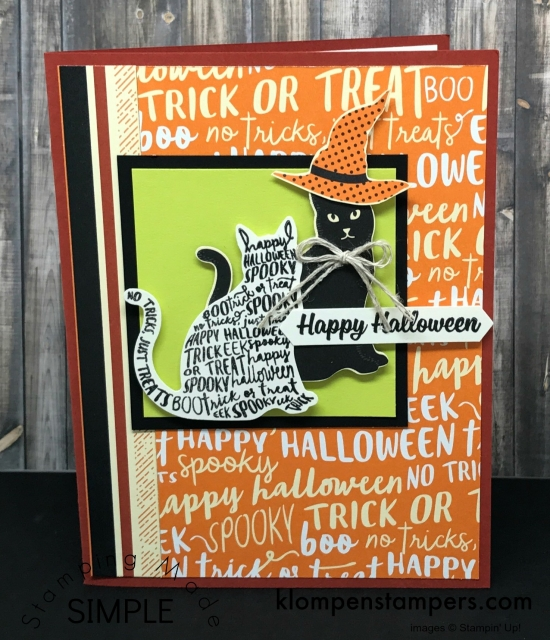Cute & easy card using Spooky Cat Bundle by Stampin' Up!