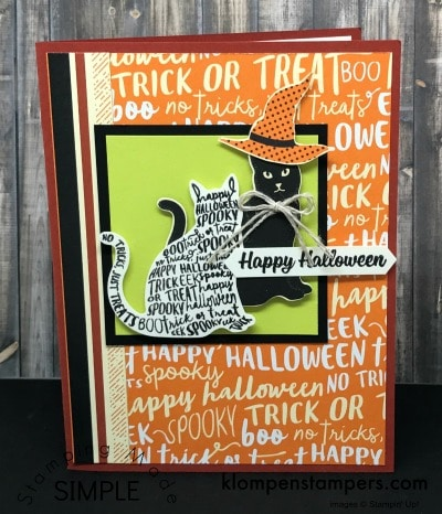 Spooky Cat–what a fun punch!