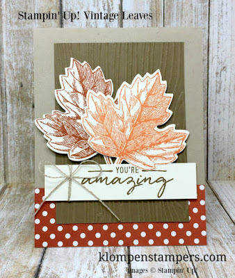 Vintage Leaves from Stampin' Up.