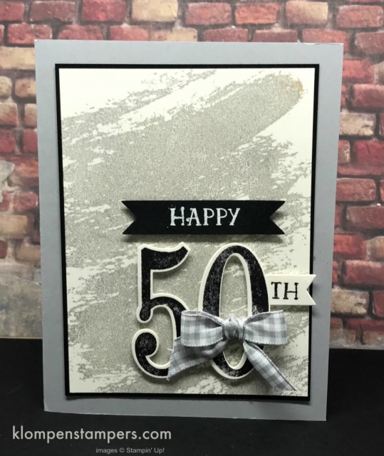 Celebrate 50 with this quick & easy card using Number of Years stamp set from Stampin' Up!