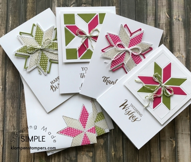 Lovely cards made using Christmas Quilt Bundle by Stampin' Up!. Definitely not just for Christmas!