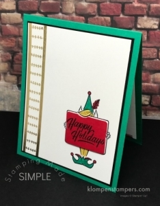 Festive Phrases stamp set from Stampin' Up! Quick & easy cards that are so cute!