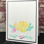 Emboss Resist watercoloring technique using Stampin' Up! Happiest of Days stamp set