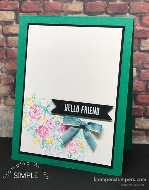 Emboss Resist watercoloring technique using Stampin' Up! Wood Words stamp set