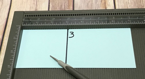 Cardstock measurements and scoring for box to hold coffee candle and coffee gift card