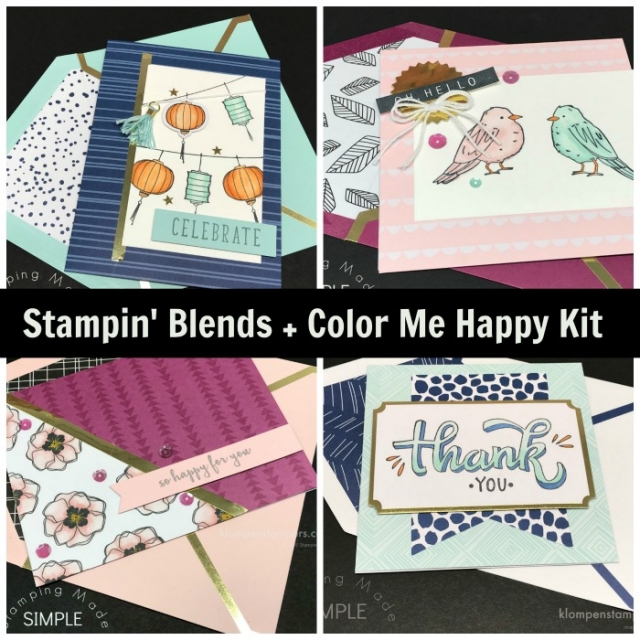 Tips & Video for coloring with Stampin' Blends and Color Me Happy Kit by Stampin' Up!