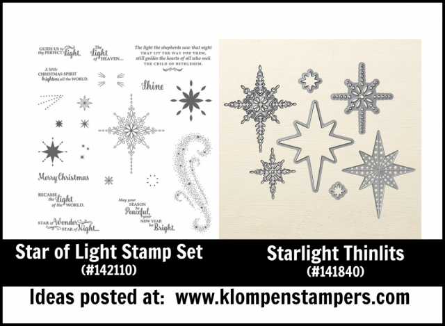 Stampin' Up! Star of Light stamp set and Starlight Thinlits