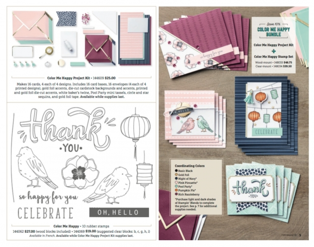 Color Me Happy kit for using the Stampin' Blends