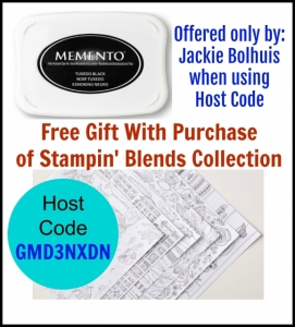 Free gift with purchase of Stampin' Blends from Jackie Bolhuis, klompenstampers.com