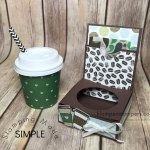 Instructions for mini coffee cup gift card holder using Stampin' Up! Coffee Break Designer Series Paper