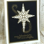 Easy Christmas card using Stampin' Up! Star of Light stamp set & Starlight Thinlits