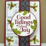 Easy Christmas Card Idea using Good Tidings Stamp Set