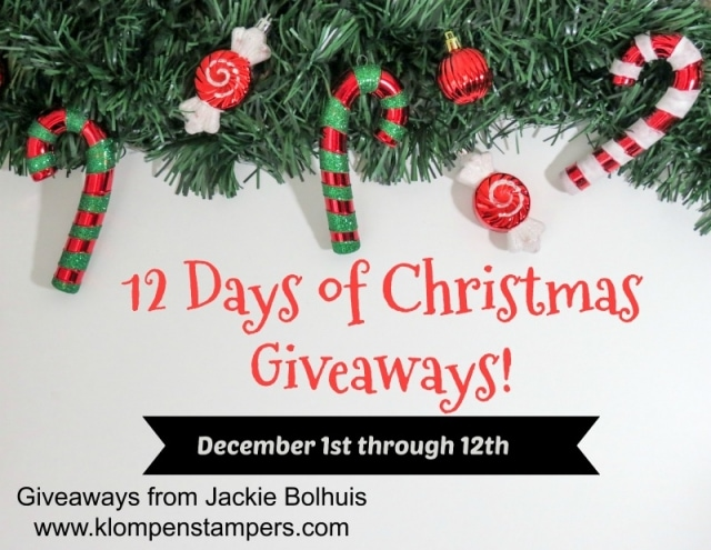 12 Days of Christmas Giveaways. Stamping products being given away every day, plus a grand prize winner of a $50 Gift Certificate.