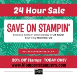 24 Hour Stamp Sale!!!!