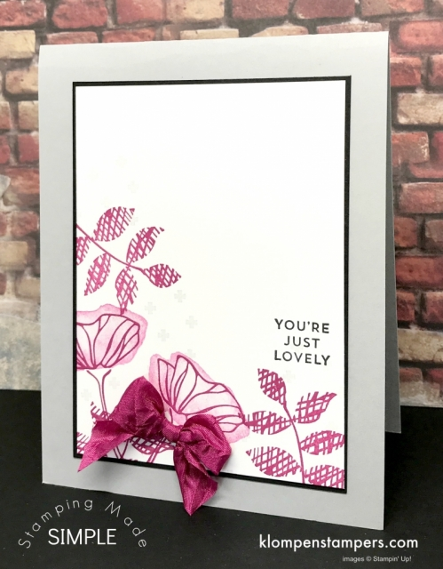 Oh So Eclectic card 2. This bundle has so many different pieces that you can get such a variety of looks from.