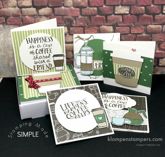 """Coffee Cafe perfect for a pizza box filled with 3"""" x 3"""" notecards."""