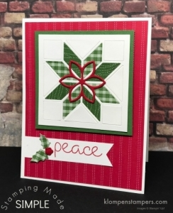 Christmas Cards Using Christmas Quilt